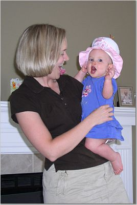 Kayla & Mom -  First Birthday!